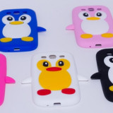 Carcasa protectie spate pinguin din silicon pentru Samsung Galaxy S3 I9300