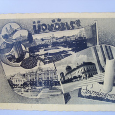 Carte postala :udvozlet -szatmarnemetibol, satu -mare, circulata 1940, Printata