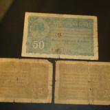 Lot 3 bancnote BGR - 25 si 50 bani, An: 1917
