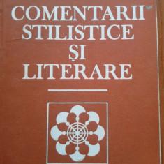 COMENTARII STILISTICE SI LITERARE - Ieronim Tataru