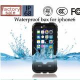 Toc subacvatic negru cu prelungitor casti audio iPhone 6 4.7 + folie protectie