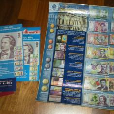Autocolant si pliante pentru monede si bancnote in circulatie - Romania, An: 2008