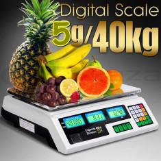 CANTAR ELECTRONIC Digital PIATA MAGAZIN AFISAJ DUBLU 40 kg Model Nou 2016 - Cantar de Bucatarie