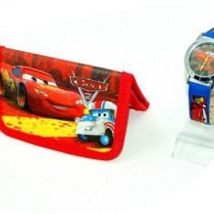 Set ceas de mana si portofel Cars - Ceas copii Disney