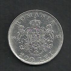 Monede Romania, An: 1942, Argint - ROMANIA MIHAI I 200 LEI 1942 ARGINT 6 g . XF + [6] LUCIU