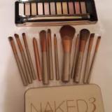 Set Trusa make up 12 culori + pensule profesionale Naked 5 Urban Decay