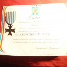 Crucea Comemorativa II Razboi Mondial 1941-1945, cu Brevet - Romania