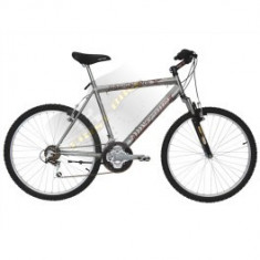 Mountain Bike Nespecificat, 15 inch, 16 inch, Numar viteze: 21, Gri metalizat, V-brake - Bicicleta first bike