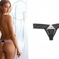 Chiloti dama - Chiloti tanga dantela Victoria's Secret marime S si M - victoria victorias