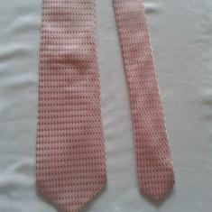 Cravata autentica Giorgio Armani din matase naturala - Cravata Barbati Giorgio Armani, Culoare: Roz, Geometric