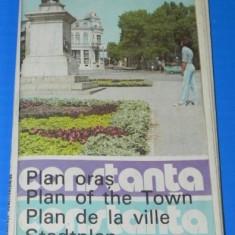 Harta Turistica - CONSTANTA PLAN DE ORAS ONT 1983. litoral