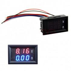 Voltampermetru (voltmetru ampermetru) 100V-10A (sau 100V-100A) digital, sigilat !