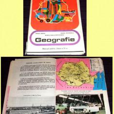 Carte Epoca de aur - Geografie, manual ilustrat clasa a IV-a 1978, amintiri Epoca de Aur, harti RSR