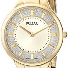 Pulsar Women's PM2132 Gold-Tone Watch with | 100% original, import SUA, 10 zile lucratoare af22508 - Ceas dama
