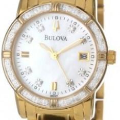 Bulova Women's 98R165 Diamond Case Watch   100% original, import SUA, 10 zile lucratoare af22508 - Ceas dama