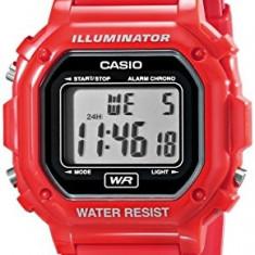 Casio F-108WHC-4ACF Classic Red Stainless Steel | 100% original, import SUA, 10 zile lucratoare af22508 - Ceas dama