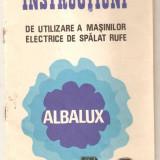 Carti Electrotehnica - Instructiuni pentru masina de spalat rufe Albalux 7 si 8