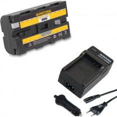PATONA | Incarcator + Acumulator Sony NP-F550 NP F550 NPF550 F330 F530 F570 - Baterie Camera Video