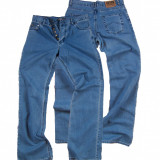 Pantaloni barbati - albastri - talie medie - usor evazati LOTUS W 33 (Art.180)