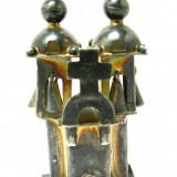 Miniatura argint 925 -Bisericuta cu clopotei