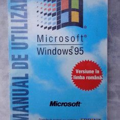 Microsoft - Windows 95 - Manual de utilizare - Carte sisteme operare