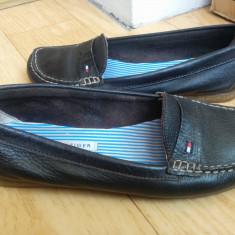 Pantofi din piele firma TOMMY HILFIGER marimea 39, purtati o singura data! - Pantof dama Tommy Hilfiger, Culoare: Maro, Piele naturala