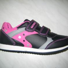 Pantofi sport fetite WINK;cod FJ5106-3;marime:30-35 - Adidasi copii Wink, Marime: 32, Culoare: Negru, Fete, Piele sintetica