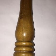 Bucatarie - Rasnita sunt manuala pt sare si piper din lemn 35cm