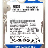 Hard Laptop IDE 80Gb Western Digital Scorpio 5400 RPM 8MB