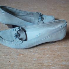 Pantofi dama - Pantofi Geox bej piele intoarsa