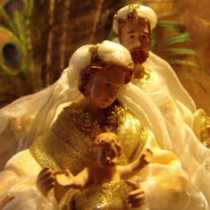 IESLE/Scena Nasterii = HOLY NATIVITY Set = Xmas deco de LUXE - scene.2! - Icoana cu foita de aur