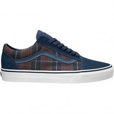 Shoes Vans Old Skool Distressed plaid dress blues - Tenisi barbati