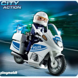 Masinuta electrica copii Playmobil - Motocicleta Politiei