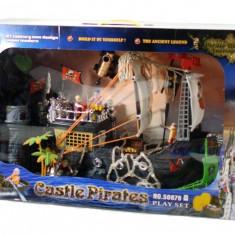 Vehicul - Corabia piratilor cu echipaj si castel - Jucarie de dimensiuni mari!