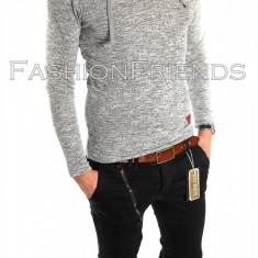 Bluza tip ZARA fashion gri deschis - bluza barbati - cod produs: 5807