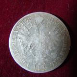 Moneda 1 florin,  Fr. Iosef,  1872 ( rar )  din argint