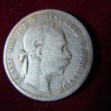 Moneda 1 florin,  Fr. Iosef,  1886  din argint