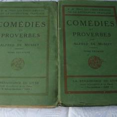 Carte Literatura Franceza - Alfred de Musset - Comedies et Proverbes - 2 volume - in franceza - interbelica