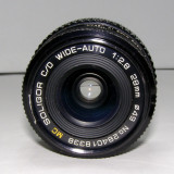 Obiectiv Soligor C/D WIDE-AUTO 1:2.8 28mm pentru piese sau reparat(57) - Obiective RF (RangeFinder)