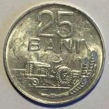 Monede Romania, An: 1982, Aluminiu - ROMANIA 25 BANI 1982, 1.3 g, Al, 22 mm, muchie dublata, nr. 2 **