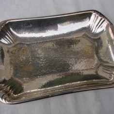 Tava dreptungiulara din alama argintata