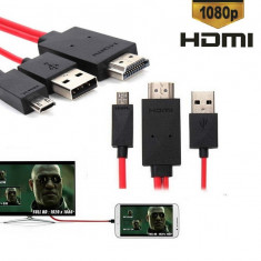 MHL Micro USB 11pin to HDMI HDTV Samsung Galaxy S4 i9500, Samsung Galaxy S3 i9300, Samsung Galaxy S4, Samsung Galaxy Note 2 II N7100, Samsung Galaxy Note - Adaptor HDTV