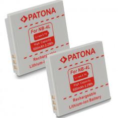 Baterie Aparat foto - A PATONA | 2 Acumulatori pt Canon NB 4L NB-4LH NB4L IXUS 230 220 130 120 115 110