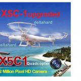 DRONA SYMA X5C-1 UPGRADED 2 BATERII ZBOR 15 MINUTE CAMERA HD, CARD 4GB,CITITOR