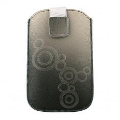 Toc Lux iPHONE 5/5S/5C Gri - Husa Telefon Atlas, Piele Ecologica