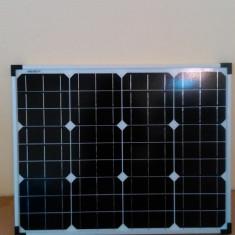 Panouri Solare 50w Fotovoltaice Mono pt bec led, pompa apa 12v, acumulatori, frigider 12v, invertor, rulota, gradina, iluminat