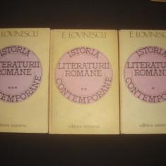 Studiu literar - E. LOVINESCU - ISTORIA LITERATURII ROMANE 3 volume