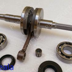 Ambielaj Complet + Rulmenti + Simeringuri Scuter Malaguti F10 ( 49cc - 80cc ) - Ambielaj standard Moto
