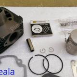 Kit Cilindru / Set motor + Piston + Segmenti Scuter Piaggio - Piagio Fly / Zip / Free / Liberty / NRG / VESPA ( 80cc - racire aer - W Standard)
