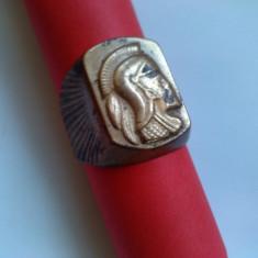 Inel barbatesc metal - tematica soldat roman cu coif - Inel barbati